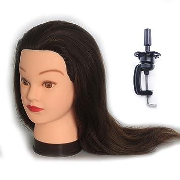 Hairealm Trainingsköpfe Für Friseure übungskopf 100 Echthaar