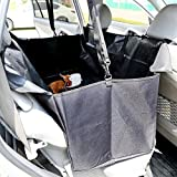 GHB Pets Waterproof Car Rear Seat Cover Travel Back Seat Pet Hammock Black