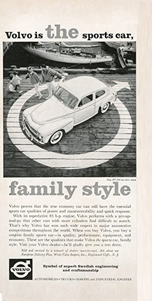 1960 VOLVO PV 544 2 Door SEDAN U0026quot; VOLVO Is THE Sports Car.
