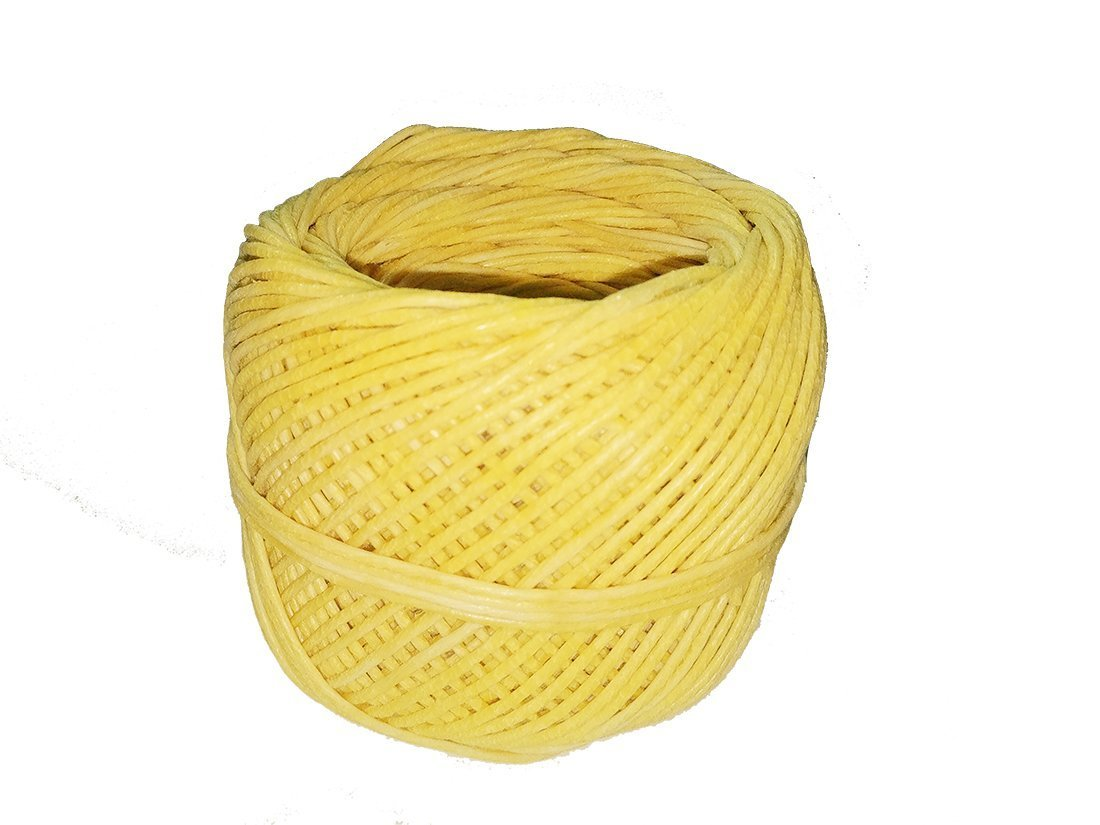 Homankit Beeswax Hemp Candle Wick, 200 ft Spool Pre Bees waxed Candle Wicks| 2mm in Diameter Candle wicks Coated With 100% Natural BeesWax for Candle Making / Candle DIY