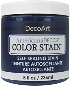 DecoArt Americana Decor Color Stain 8oz Navy, Blue