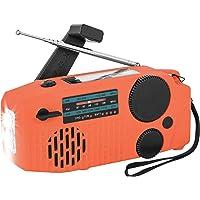 $21 » Sanlinkee Emergency Hand Crank Radio, Solar Powerd AM/FM/SW/NOAA Weather Radio, Bulit…