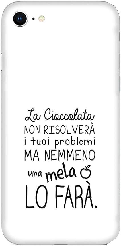 Cover Custodia Compatibile per Apple iPhone 6s Plus Frasi divertenti la cioccolata non risolverà i tuoi problemi ma nemmeno la mela / Stampa anche sui ...