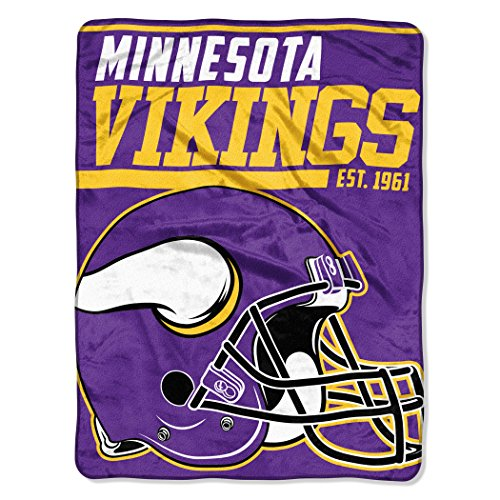"NFL Minnesota Vikings 40 Yard Dash Micro Raschel Throw, 46"" x 60"""