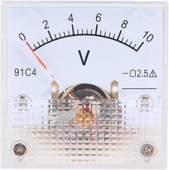 uxcell DC 0-10V Analog Panel Voltage Gauge Volt Meter 85C1 2.5/% Error Margin