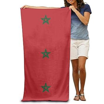 Toallas de playa de la bandera de Marruecos de Yissalvavunaz, lujosas, 100% poliéster, toalla grande para playa, manta ...