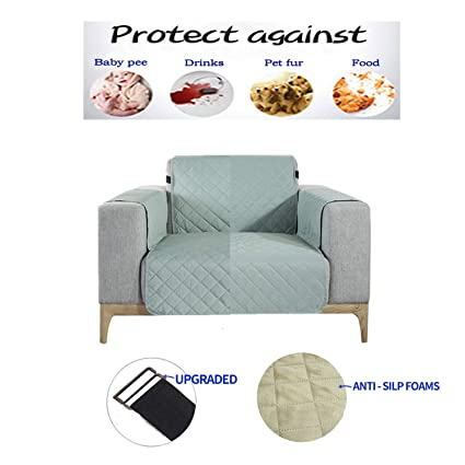 Astonishing Nekocat Recliner Cover 100 Waterproof Nonslip Quilted Furniture Protector Slipcover Seat Width To 22 Furniture Protector With Elastic Strap Machost Co Dining Chair Design Ideas Machostcouk