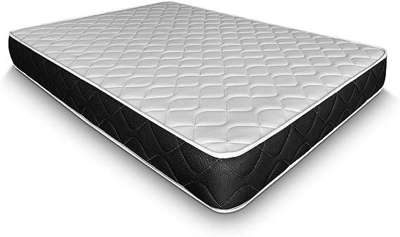 Duérmete Online - Colchón Viscoelástico Pocket Visco Reversible (Cara Invierno-Verano) Firmeza-dureza Alta, Muy Transpirable, 135x180