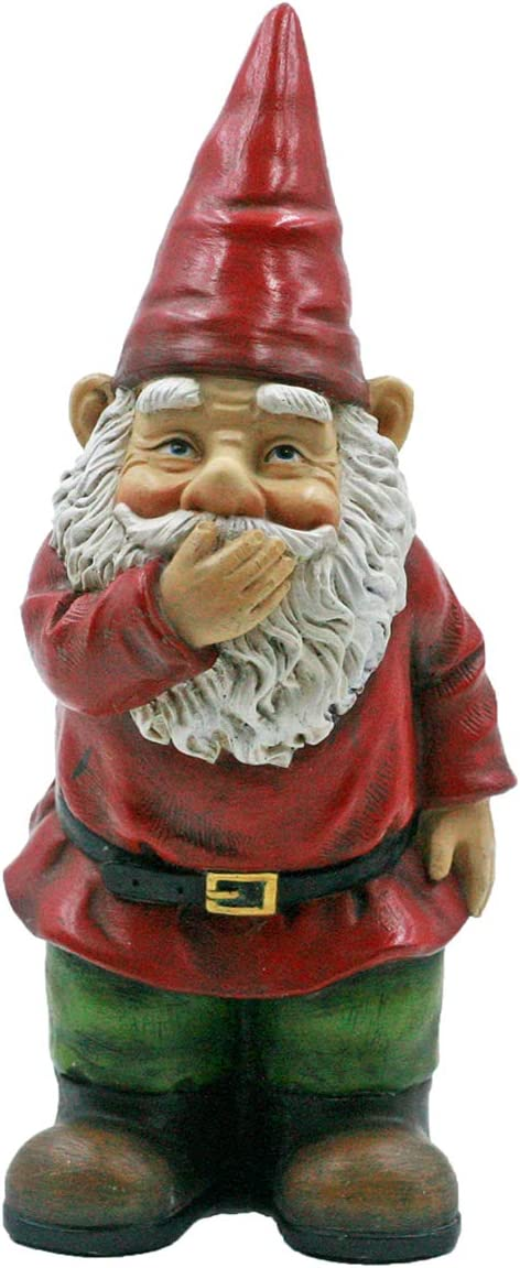 DaycMy Garden Gnome Statue, Medium 9 Inch,Funny Red Hat Bearded Garden Gnomes Outdoor Statue Full Color Gnome for Lawn Patio Yard Decorations