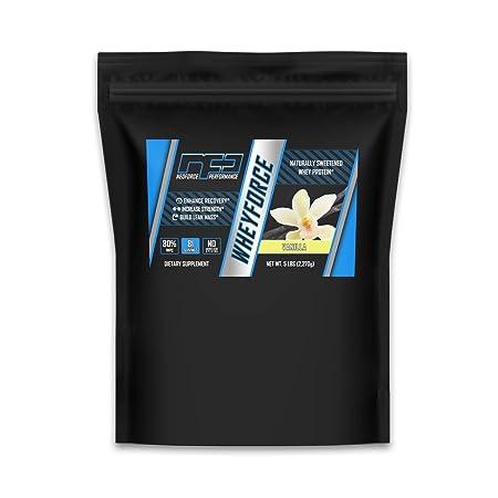 WHEYFORCE Naturally Sweetened Whey Protein – Vanilla, 5 Pounds