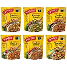 Tasty Bite Indian Entree, Variety Pack, 10 Ounce, 6 Count