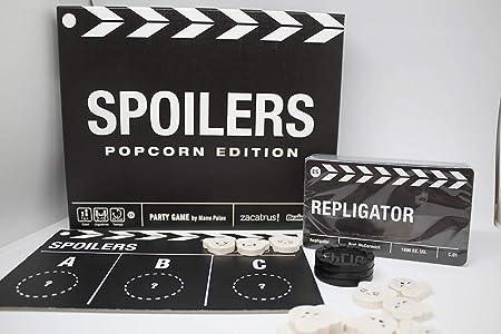 Zacatrus!- Spoilers: Popcorn Edition Juego de Mesa, Color nego y Blanco (ZAC031): Amazon.es: Juguetes y juegos