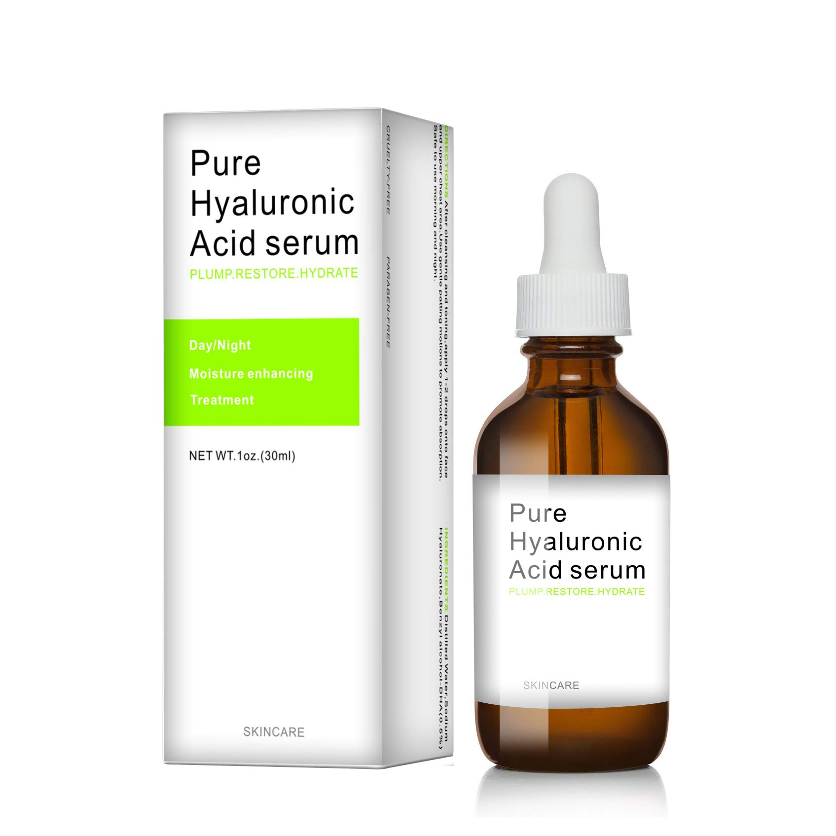 Dermapeel pure hyaluronic acid serum skin care facial care hyaluronic acid moisturizer-100% Pure,Anti-Aging Serum-Intense Hydration+Moisturizer,Non-greasy,Paraben Free-S07
