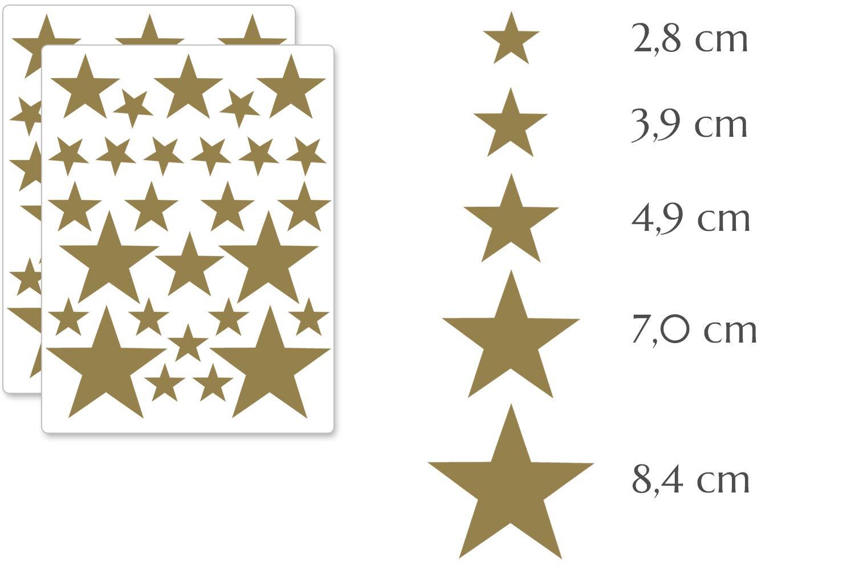 Wandtattoo Wandaufkleber Selbstklebend Weiss Premyo 54 Sterne Wandsticker Kinderzimmer Madchen Jungen Baby Kinderzimmer