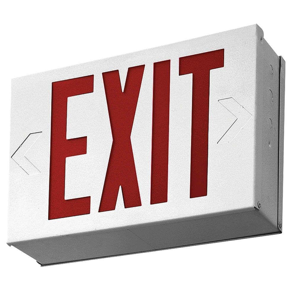 Lithonia Lighting LX W 3 R 4W LED Exit Sign, White