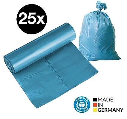 25 X Bolsas de basura bolsas de basura bolsas de basura de 120 litros Saco 80 μ Extremadamente Resistente bolsas de basura 700 x 100 m lpde bolsas de ...