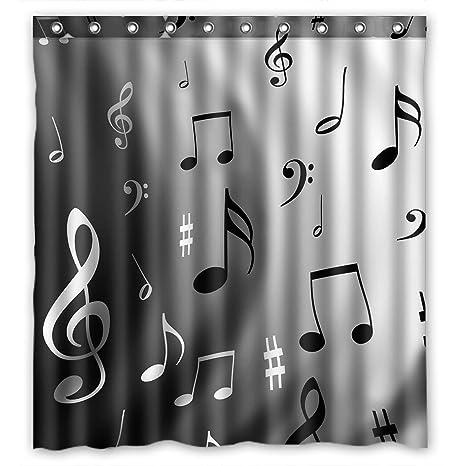 Amazon.com: Moda amantes de la música notas musicales Patrón ...