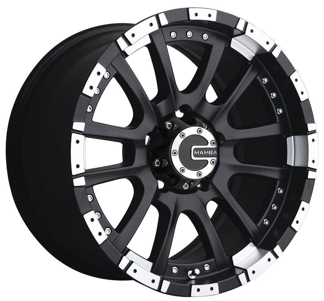Mamba M12 20 Black Wheel / Rim 8x170 with a -12mm Offset and a 130.80 Hub Bore. Partnumber M122970N12