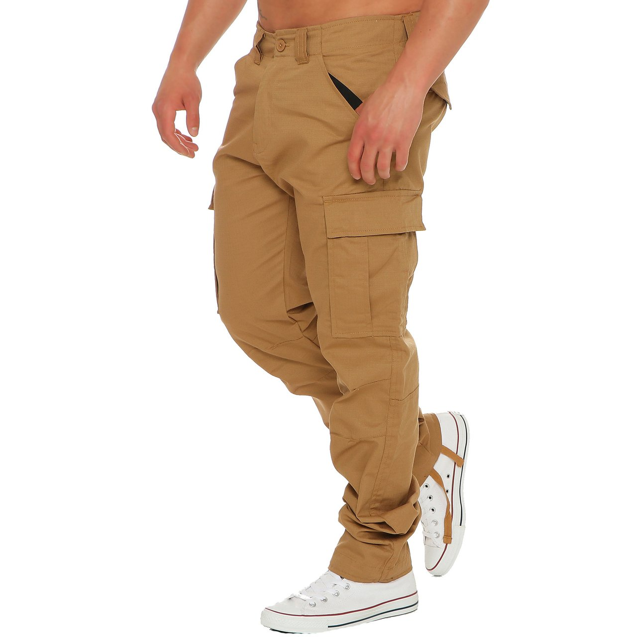 Finchman Herren Cargo F1001 Hose Lang Trousers Pant Freizeithose Tapered Fit