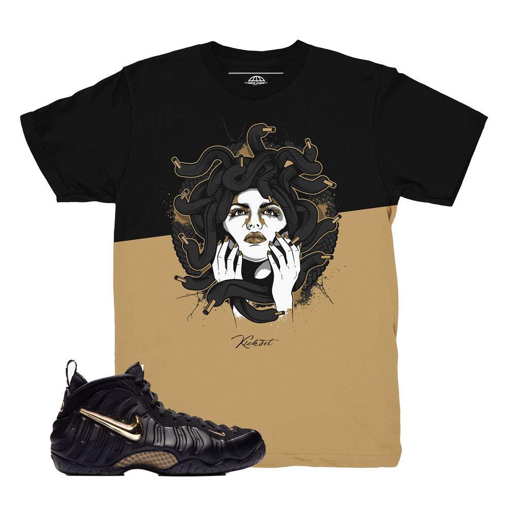 Foamposite Pro Gold Medusa Split Shirt to Match Foamposite Pro Gold Sneakers