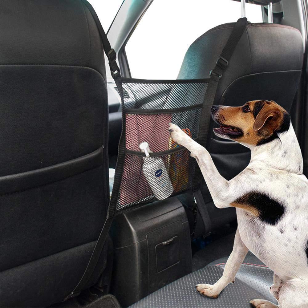 t/él/éphone anti-d/érangement universel Goglor Barri/ère de voiture pour chien 3 couches Filet organiseur de voiture Premium Pet Dog Cl/ôtures de si/ège de voiture en maille pour porte-monnaie enfants
