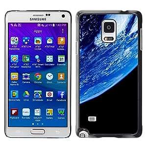 Be Good Phone Accessory // Dura Cáscara cubierta Protectora Caso Carcasa Funda de Protección para Samsung Galaxy Note 4 SM-N910 // Planet Earth From Space