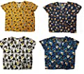 Halloween Scrub Tops Holiday Prints Sizes XS-2XL Medical Nursing NWT