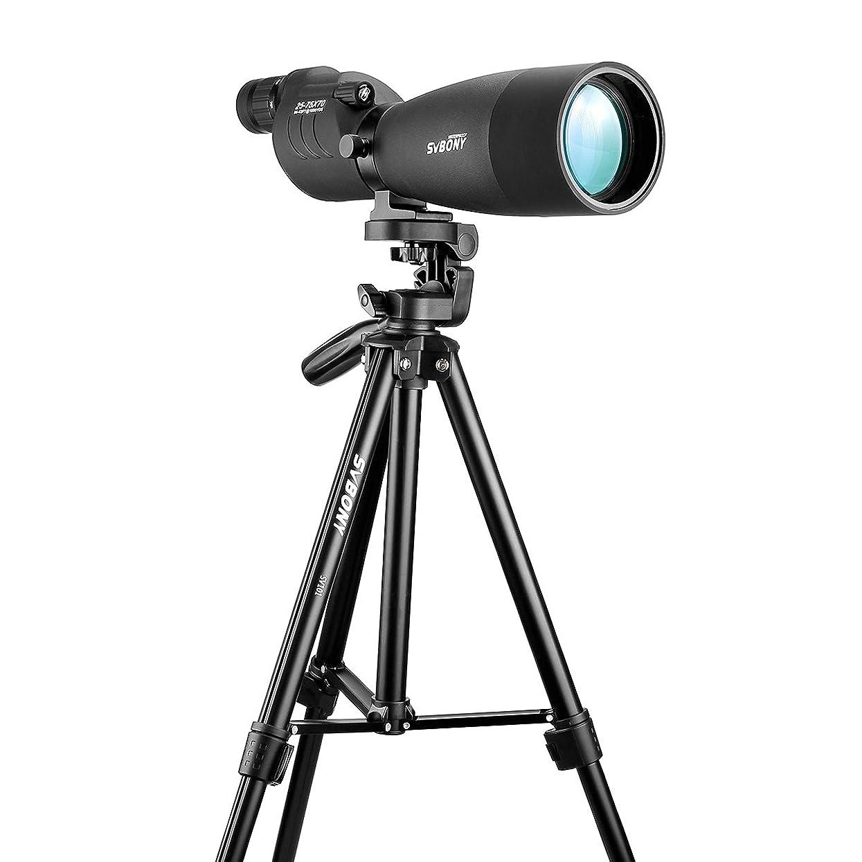 リボン衣類ロッカーSVBONY SV-13 スポッティングスコープ 単眼望遠鏡 フィールドスコープ 高倍率 完全防水 天体観測 野鳥観察 アーチェリー 射撃 日本語マニュアル付き (20-60x80)