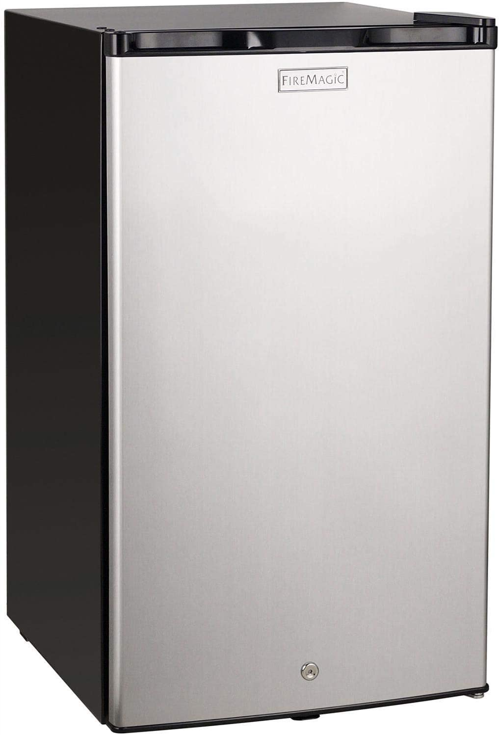Fire Magic 20-Inch 4.0 Cu. Ft. Compact Refrigerator - Stainless Steel Door/Black Cabinet - 3598