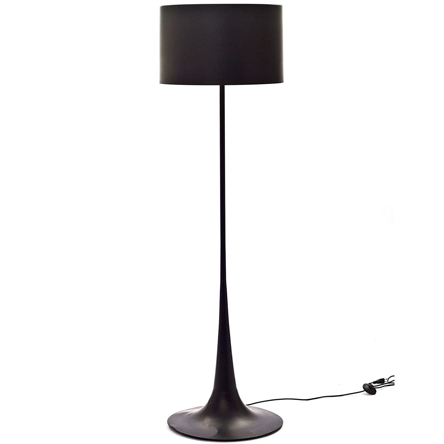 Amazon modway spun style floor lamp in black home kitchen aloadofball Image collections