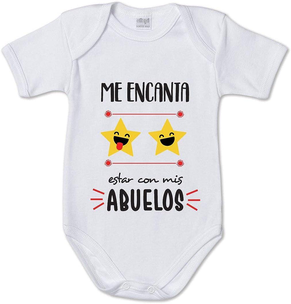 AR Regalos Body bebé Me Encanta Estar con mis Abuelos