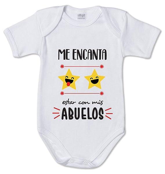 AR Regalos Body bebé Me Encanta Estar con mis Abuelos ...