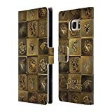 Official HBO Game Of Thrones All Houses Golden Sigils Leather Book Wallet Case Cover For Samsung Galaxy S7 edge