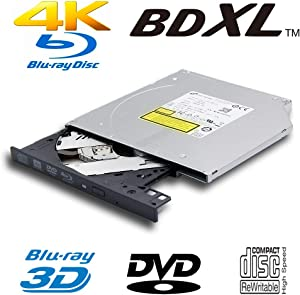 Genuine New Laptop PC Internal 4K Ultra HD UHD 3D Blu-ray Player M-Disc Burner for LG BU40N, Dual Layer 4X BDXL 100GB 6X BD-RE DVD+RW DL DVD-RAM CD-RW Writer 9.5mm SATA Optical Drive