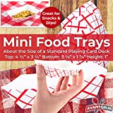 Heavy Duty, Grease Resistant Mini Paper Food