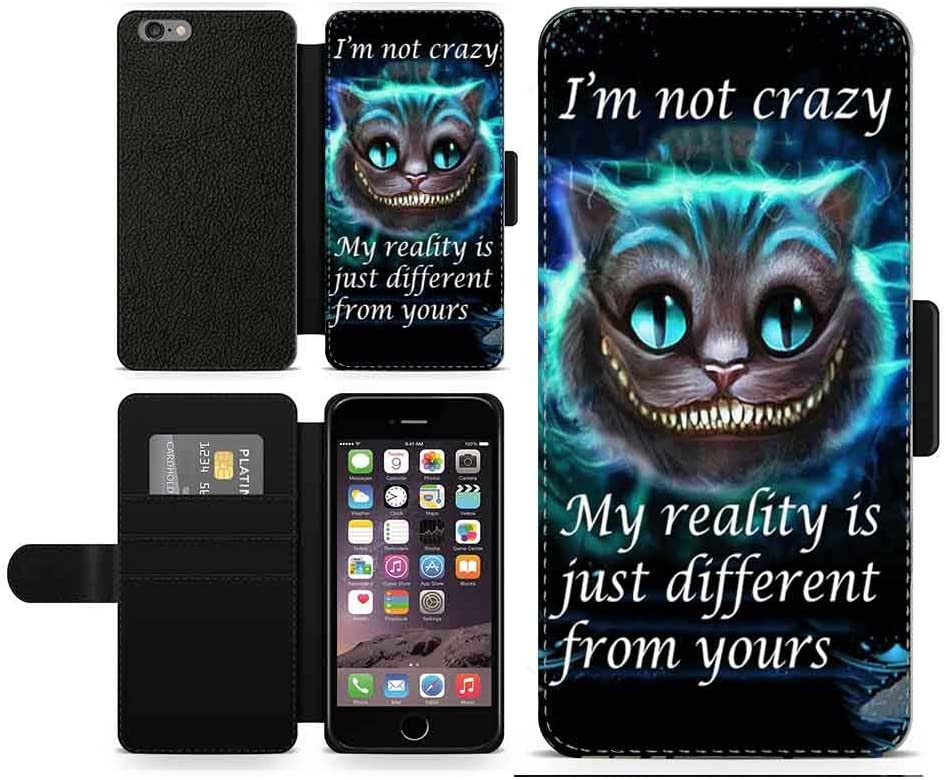 OKO Alice in Wonderland Im not crazy Cheshire Cat Inspired faux leather flip phone case 2019 Samsung Galaxy A10