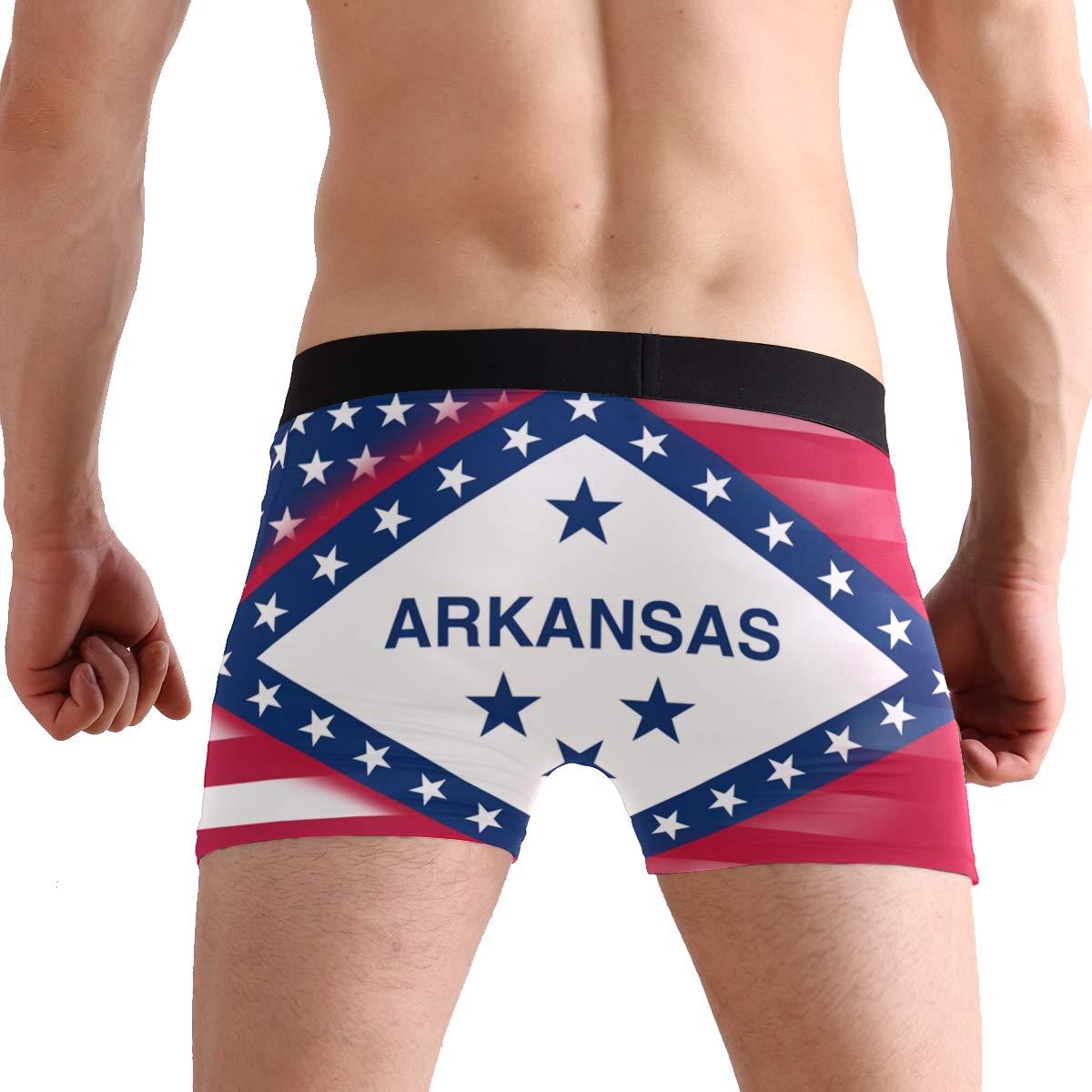 DongDongQiang USA Arkansas State Flag Mens Boxer Briefs Underwear