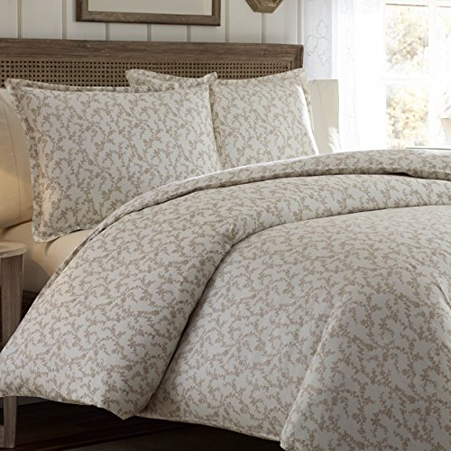 - Laura Ashley Victoria Duvet Cover Set, King, Taupe