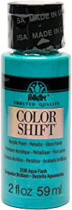 FolkArt Color Shift Acrylic Paint in Assorted Colors (2 ounce), Aqua Flash