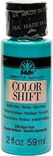 product image for FolkArt Color Shift Acrylic Paint in Assorted Colors (2 ounce), Aqua Flash