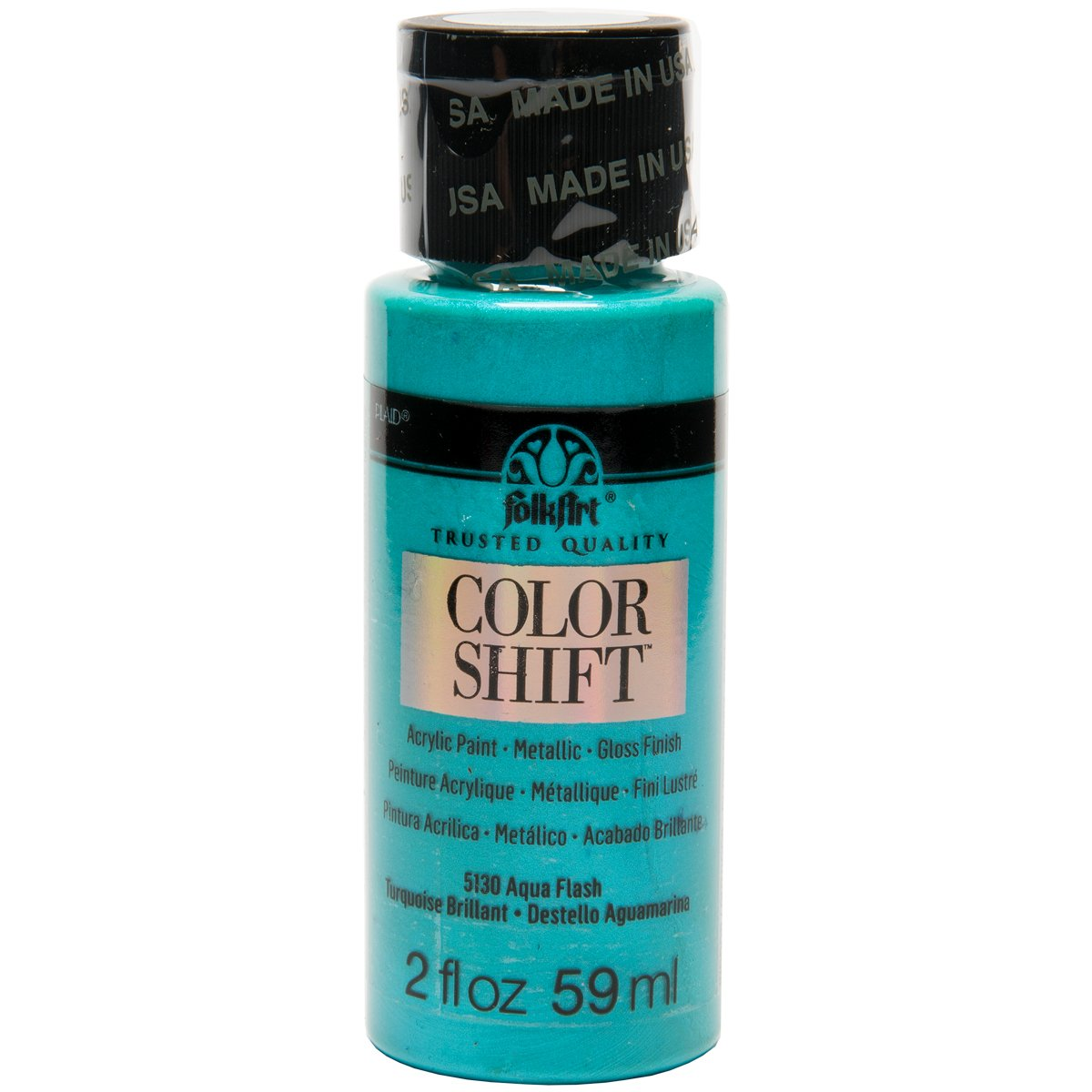 FolkArt Color Shift Acrylic Paint in Assorted Colors (2 ounce), 5130 Aqua  Flash