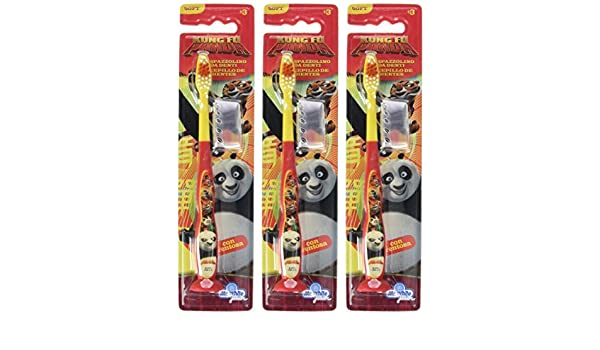 Amazon.com: Mr White Jr Toothbrush with Cap Design Kung Fu Panda- by Mr White Jr: Health & Personal Care