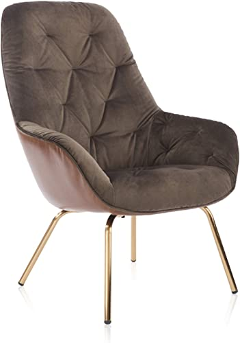 Modern Velvet Accent Chair High Back