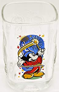 Walt Disney World Commerative 2000 Mickey Mouse Wizard Epcot Center Square Glass