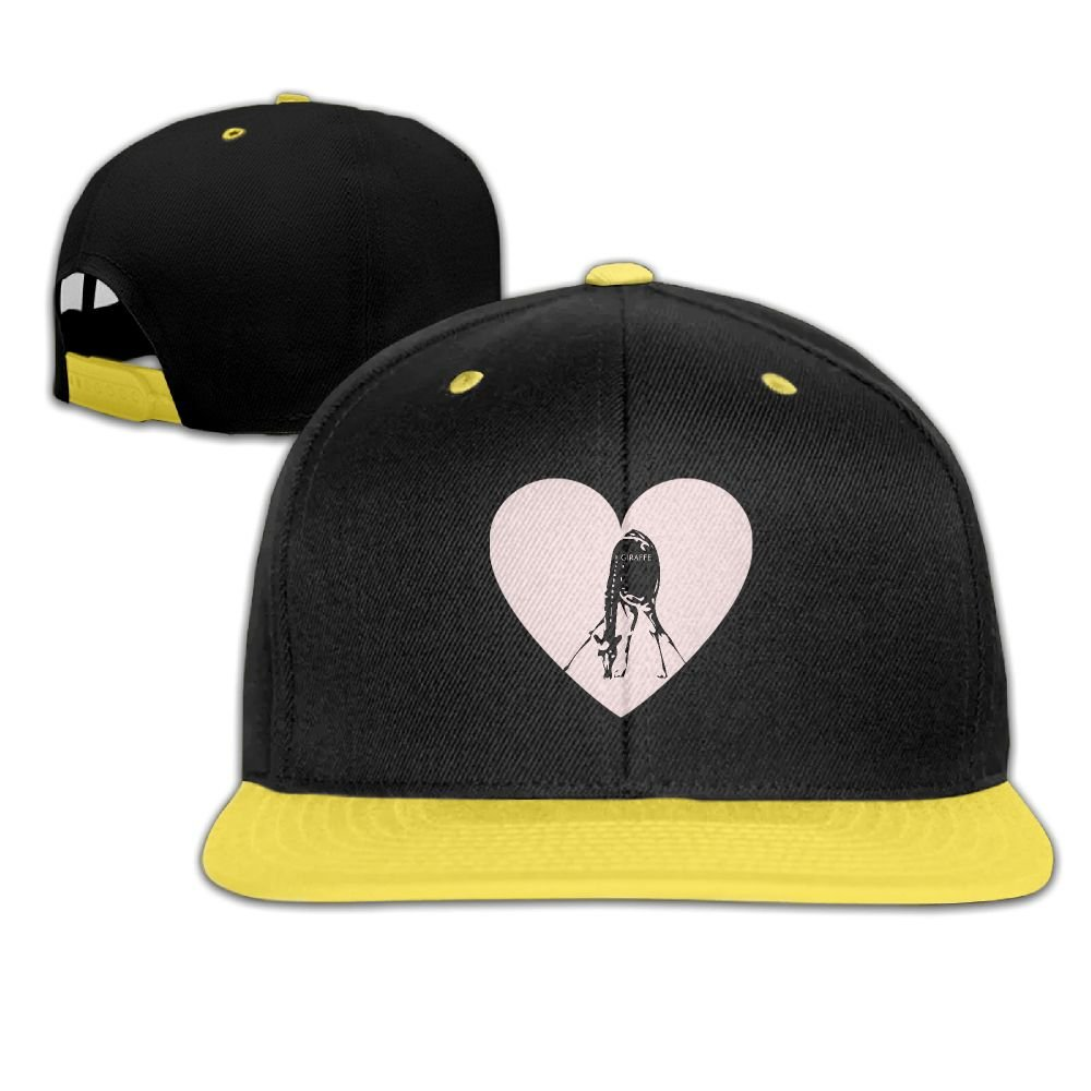 GUOFULIN Giraffe Adjustable Snapback Kids Hip Hop Hat Baseball Cap