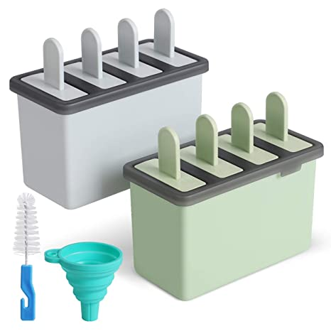 8 Freezer Ice Pop Lolly Maker Tray Cream Popsicle Yogurt Mold Maker Mould Chic Cookware, Dining & Bar Food Preparation & Tools