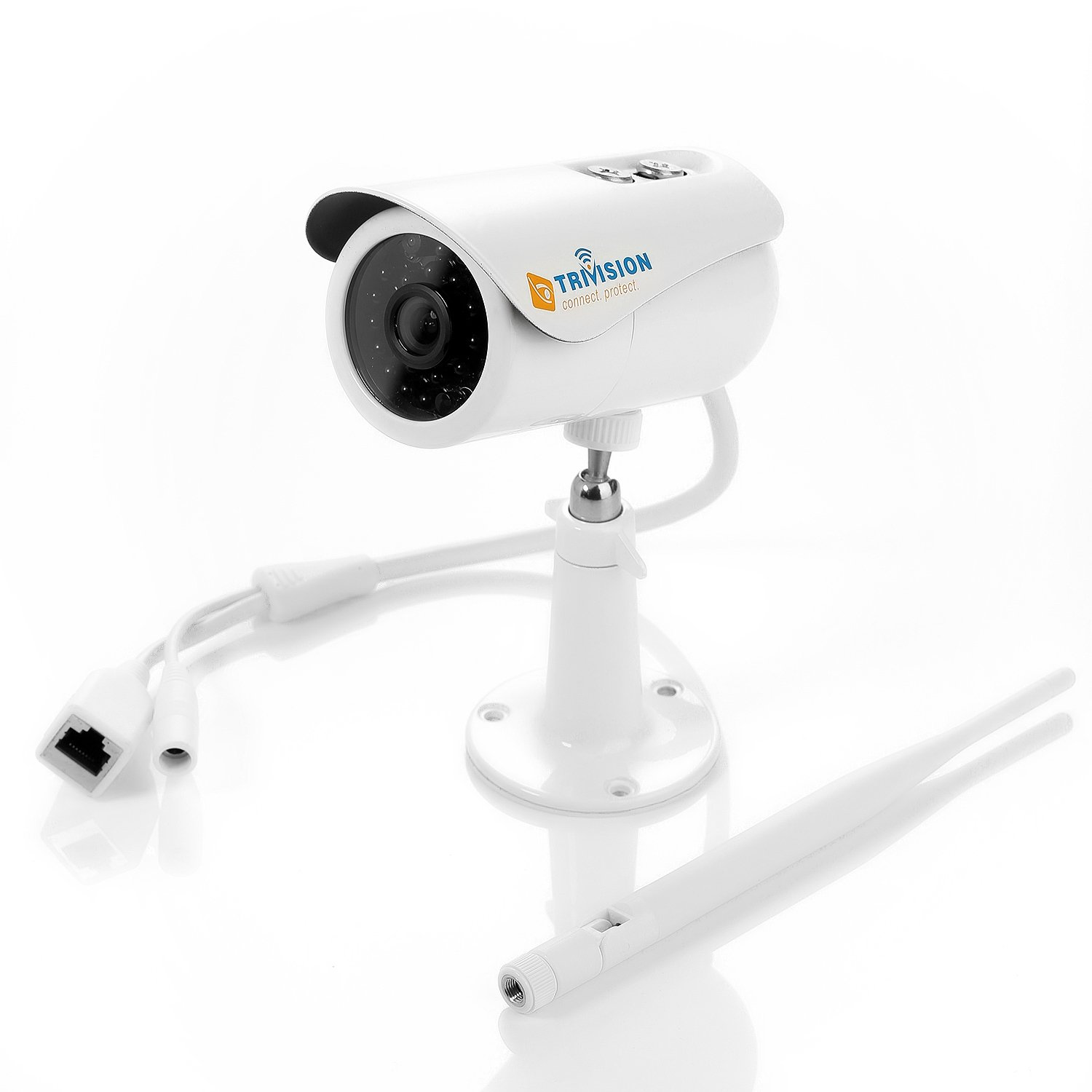 Superior Low Light Performance TriVision HD 1080P Outdoor Surveillance Camera Wireless Wi-Fi Ultra-Wide View Angle Lens Sensitive Microphone and Motion Sensor Range up to 300 Feet NC-350W HD 1080P