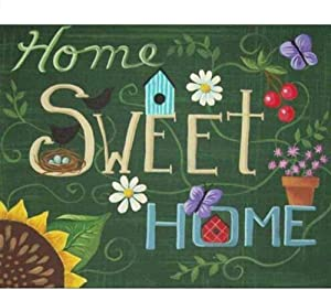 Cross Stitch Kits for Beginners Child-Letter Home Sweet Home-DIY Stamped Embroidery Needlework Needlepoint Cross Stitch-Christmas Art Home Decoration-16x20 inch (11CT Pre Printed Canvas)