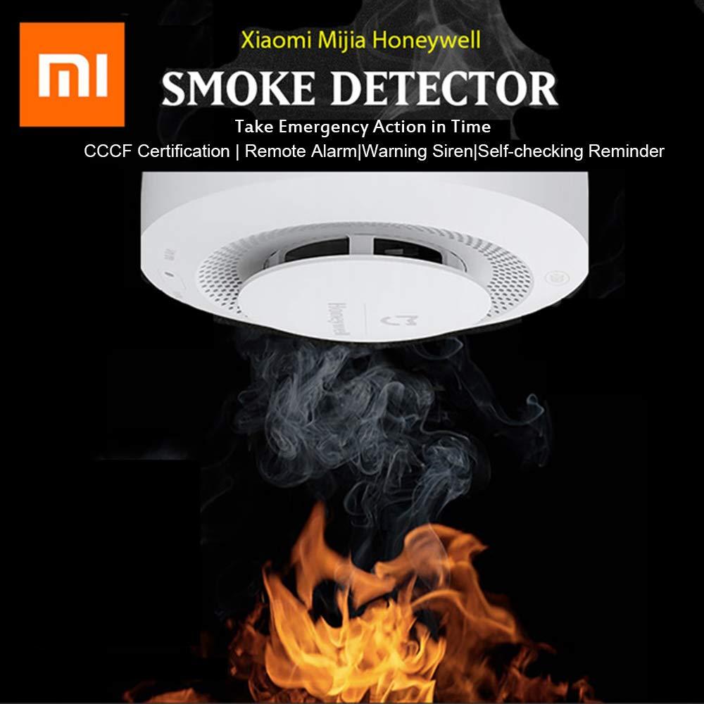 Xiaomi Mijia Honeywell Detector de Humo Audible Visual Fire Sensor de Alarma Trabajo con Puerta de Enlace para el hogar Remoto Alarma Seguridad: Amazon.es: ...