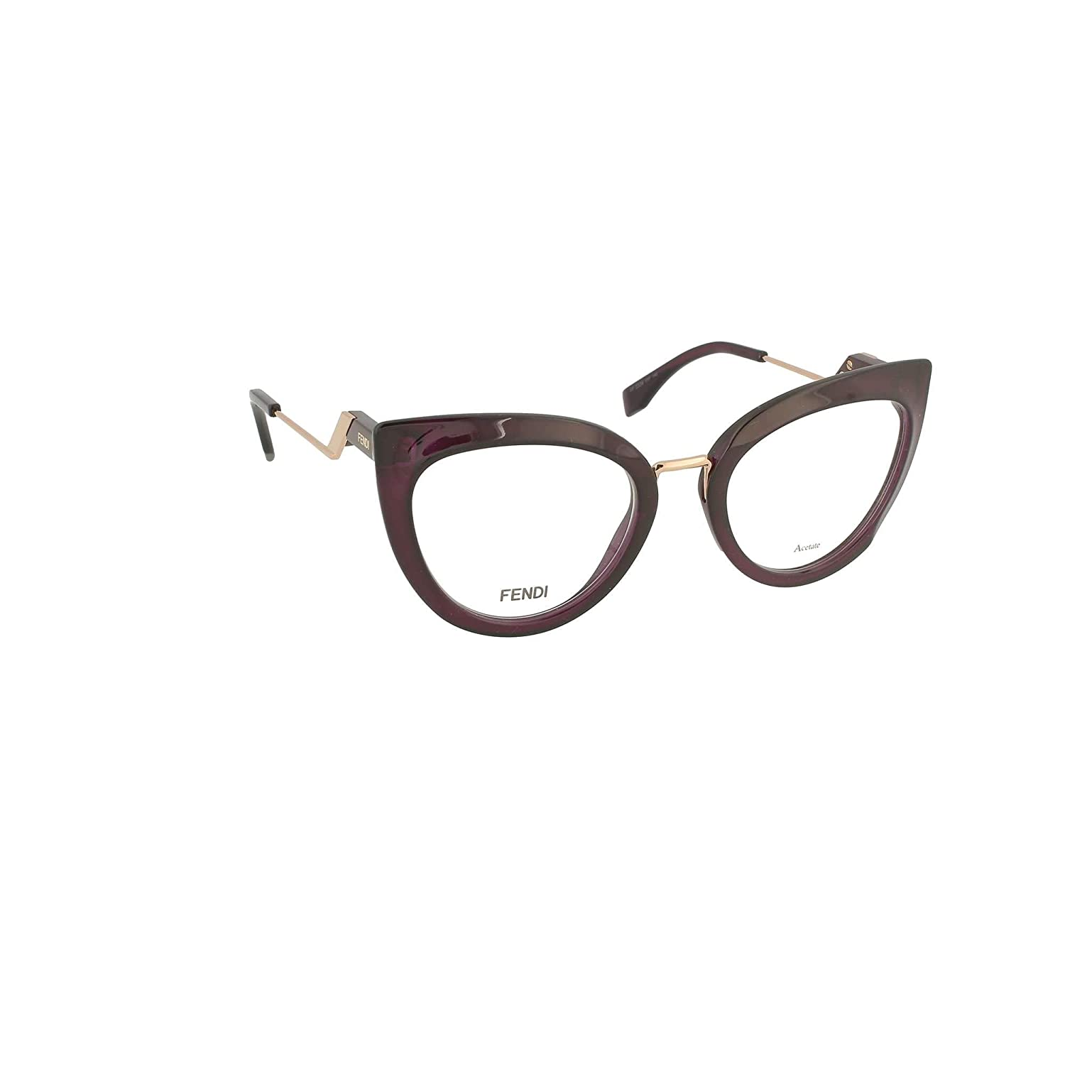 a8c7d0838bb Amazon.com  Fendi FF 0334 0T7 Eyeglasses Plum Frame 51mm  Clothing
